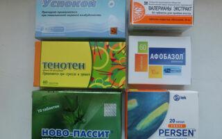 Таблица препаратов от бессонницы