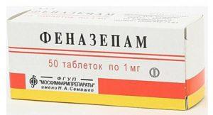 Снотворное Феназепам